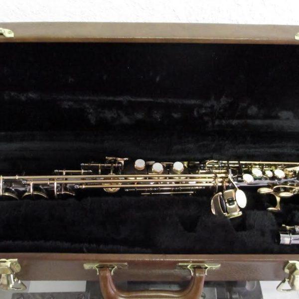 SA-467LB Soprano Sax Classic Pro Black Body & Gold Keys